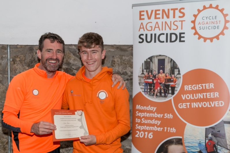 Newbridge College Student chosen as Cycle Against Suicide StudentLeader
