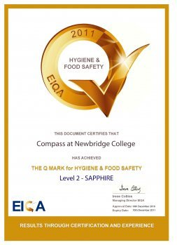 College Catering Company receives Q Mark